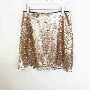 1 State Moody Hues A Line Sequin Mini Skirt 4